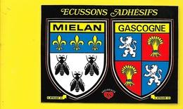 MIELAN Rare Ecussons Adhésifs (Poux) Gers (32) - Autres Communes