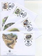 BENIN - FDC 1999 - SNAKE - PYTHON - RETTILI -  ANIMALS - WWF - FDC
