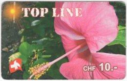 SWITZERLAND C-422 Prepaid TopLine - Plant, Flower - Used - Schweiz