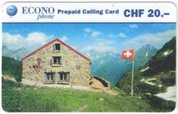 SWITZERLAND C-423 Prepaid Econo - Landscape, Mountains - Used - Schweiz
