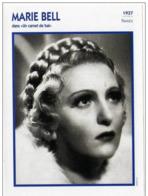 Marie BELL  (Un Carnet De Bal)  (1937)  - Fiche Portrait Star Cinéma - Filmographie -  Photo Collection Edito Service - Photos