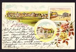 1899 Gelaufene Litho-Karte. Gruss Aus Bad Sangerberg - Tchéquie