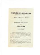 Vilmorin Andrieux, Semis De ROBINIER, Agriculture, Horticulture, Culture, Jardinerie - Publicités