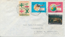 Colombia Air Mail Cover Sent To Germany 12-7-1969 With More Topic Stamps - Colombia