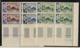 !!! SERIE ANNIV DE LA LIBERATION EN BLOCS DE 4 COINS DATES NEUFS ** 4 SCANS - 1954 10e Anniversaire De La Libération