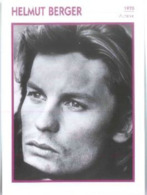 Helmut BERGER (1970)  - Fiche Portrait Star Cinéma - Filmographie - Photo Collection Edito Service - Photos