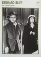 Bernard BLIER (Quai Des Orfèvres)  (1947) - Fiche Portrait Star Cinéma - Filmographie - Photo Collection Edito Service - Photos
