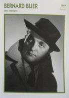 Bernard BLIER (Manèges)  (1949) - Fiche Portrait Star Cinéma - Filmographie - Photo Collection Edito Service - Photos