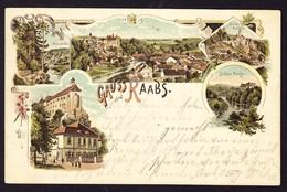 1898 Gelaufene Karte, Gruss Aus Raabs - Raabs An Der Thaya