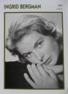 Ingrid BERGMAN (1945)  - Fiche Portrait Star Cinéma - Filmographie - Photo Collection Edito Service - Photographs
