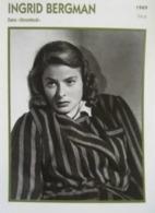 Ingrid BERGMAN (Stromboli)  (1949) - Fiche Portrait Star Cinéma - Filmographie - Photo Collection Edito Service - Photographs