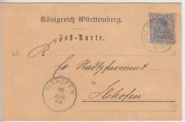 (24269) Postkarte DR Württemberg V. Diakonissenhaus Hall - Non Classés