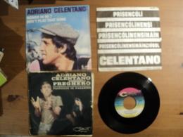 ADRIANO CELENTANO. LOT DE TROIS 45 TOURS. 1962 / 1977 CLAN ACC 24005 / GALLOWAY 600 102 / EURODISC 911 124. PREGHERO / - Discos De Vinilo