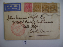 ENGLAND - LETTER SENT TO PORTO ALEGRE (BRAZIL) RESTORED IN 1936 IN THE STATE - 1902-1951 (Könige)
