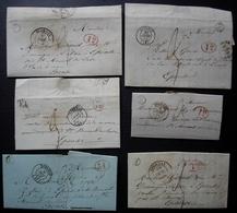 Saint Martin D' Ablois (Marne) Boite Rurale E Càd D'Epernay 1838 1843, Lot De 6 Lettres Pour Epense, Différents Cachets - Marcofilie (Brieven)