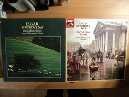 PAIRE DE 33 TOURS ELGAR. 1977 / 1980. PREMIERE ET DEUXIEME SYMPHONIES ASD 3330 / CBS 61988. LONDON PHILARMONIC ORCHESTR - Classique