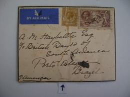 ENGLAND - LETTER SENT TO PORTO ALEGRE (BRAZIL) RESTORED IN 1936 IN THE STATE - 1902-1951 (Kings)