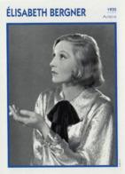 Elisabeth BERGNER  (1935)  - Fiche Portrait Star Cinéma - Filmographie - Photo Collection Edito Service - Photographs