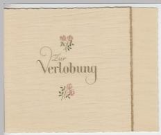 (24836) Glückwunschkarte Verlobung, Golddruck Mit Umschlag - Hochzeiten