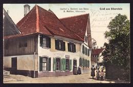 1917 Gelaufene Karte Aus Biberstein. Gasthof Und Bäckerei Zum Bären. Kleine Gebrauchsspuren - AG Aargau