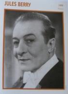 Jules BERRY (1950)  - Fiche Portrait Star Cinéma - Filmographie - Photo Collection Edito Service - Photographs