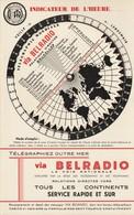 Belgique - Belradio -RTT - Schema Mondial De Télégraphie - Avec Liste Alpabétique Des Pays Et Territoires Au Dos - Mondo