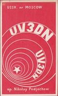 QSL Card Amateur Radio Station Funkkarte Soviet Russia USSR 1975 Moscow Balashika Nikolay Podjachew - Radio Amateur