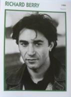 Richard BERRY (1986) - Fiche Portrait Star Cinéma - Filmographie - Photo Collection Edito Service - Photographs