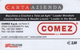 *CARTA ALBERGHI 1° Tipo: COMEZ - Cod. 1725* - Usata - Unclassified