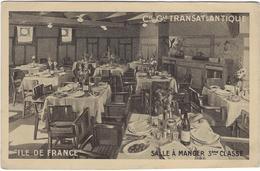 76 Le Havre  Paquebot Ile De France  Compagnie Generale Transatlantique  Salle A Manger 3 E Classe - Autres