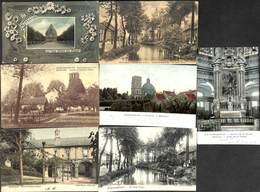 Scherpenheuvel - Montaigu - Lot 7 Postkaarten (animatie, Gekleurd... Vast Kleine Prijs) - Scherpenheuvel-Zichem
