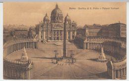 (25557) AK Vatikan, Petersdom, Petersplatz, Vatikanpalast 1913 - Vatikanstadt