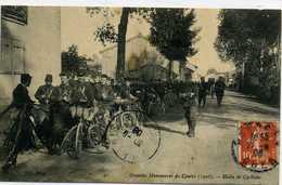 18 - BOURGES - Grandes Manoeuvres Du Centre(1908) Halte De Cyclistes - Bourges