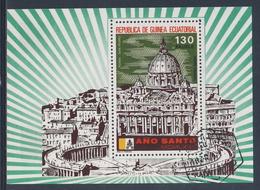 Equatorial Guinea / Guinee Equatorial 1974 B 105 CTO - Basilica Di San Pietro/ San Pedro- Holy Year / Heiliges Jahr75 - Chiese E Cattedrali