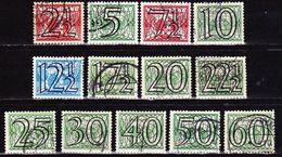 1940 Guilloche Opdrukserie Cijfers Gestempelde Serie T/m 60 Ct NVPH 356 / 368 - Periode 1891-1948 (Wilhelmina)