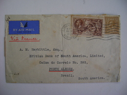 ENGLAND - LETTER SENT FROM LONDON TO PORTO ALEGRE (BRAZIL) IN 1935 IN THE STATE - Briefe U. Dokumente