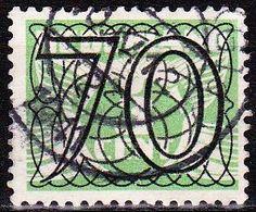 1940 Guilloche Opdrukserie Cijfers 70 Ct Gestempeld NVPH 369 - Periode 1891-1948 (Wilhelmina)