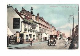HOUNSLOW, London?, England, The High Street & Stores, Old Car, Pre-1920 Postcard - Autres