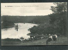 CPA - QUIMPER - La Rivière - Le Virecourt Au Saut De La Pucelle - Bateaux - Quimper
