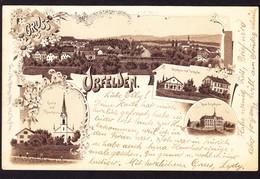1897 Frühe Litho-Karte. Gelaufen Aus Obfelden Nach Fleurier - ZH Zurich