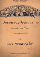 (partition Grand Format) Sérénade Gasconne Par Abel Monestès (Astaffort)  (MPA D 158) - Jazz