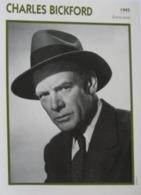 Charles BICKFORD (1945)  - Fiche Portrait Star Cinéma - Filmographie - Photo Collection Edito Service - Photographs
