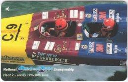 JERSEY A-497 Magnetic Telecom - Sport, Powerboat Race - 75JERA - Used - Ver. Königreich