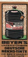5 Poster Stamps Ink Encre Tinte Chemnitz Tintenfabrik Beyer Füllhalter  Litho Inkt Reklame Marken Cinderellas - Vignetten (Erinnophilie)