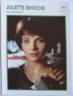 Juliette BINOCHE   (Mauvais Sang) (1986)  - Fiche Portrait Star Cinéma - Filmographie - Photo Collection Edito Service - Photographs