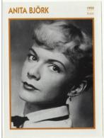 Anita BJORK (1950) - Fiche Portrait Star Cinéma - Filmographie - Photo Collection Edito Service - Photographs