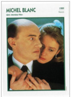 Michel BLANC (Monsieur Hire)  (1989) - Fiche Portrait Star Cinéma - Filmographie - Photo Collection Edito Service - Photographs