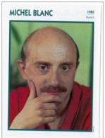 Michel BLANC (1989)  - Fiche Portrait Star Cinéma - Filmographie - Photo Collection Edito Service - Photographs