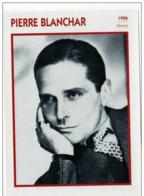 Pierre BLANCHAR (1926)  - Fiche Portrait Star Cinéma - Filmographie - Photo Collection Edito Service - Photographs