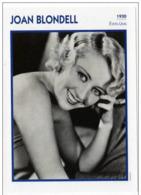 Joan BLONDELL (1930)   - Fiche Portrait Star Cinéma - Filmographie - Photo Collection Edito Service - Photographs
